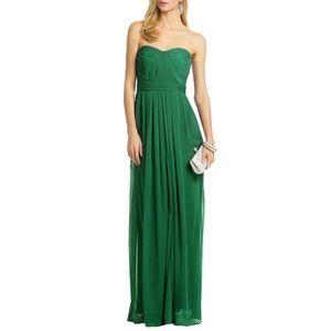 NWT Badgley Mischka Emerald Green Chiffon Gown